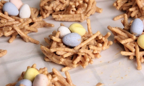 3 Ingredient Birds Nest Cookies