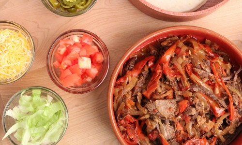 Crock Pot Beef Fajitas
