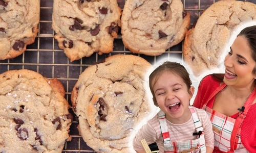 Sea Salt Tahini Chocolate Chip Cookies