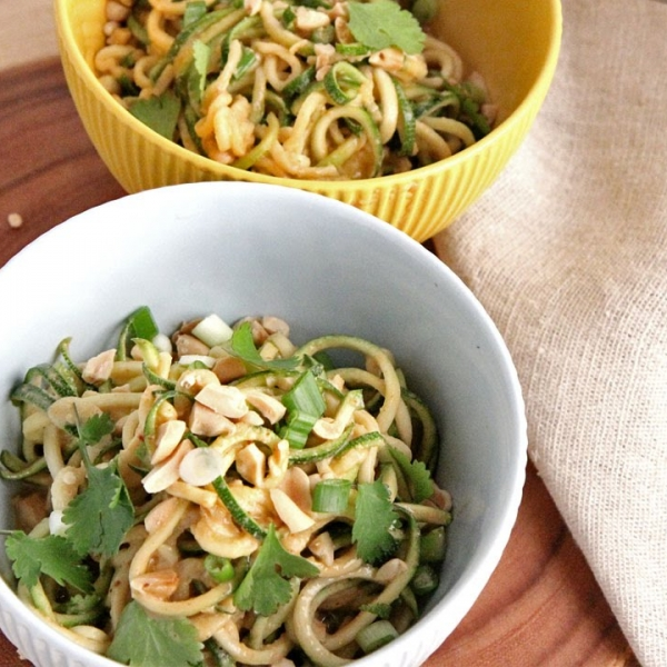 Zoodles with Peanut Sauce