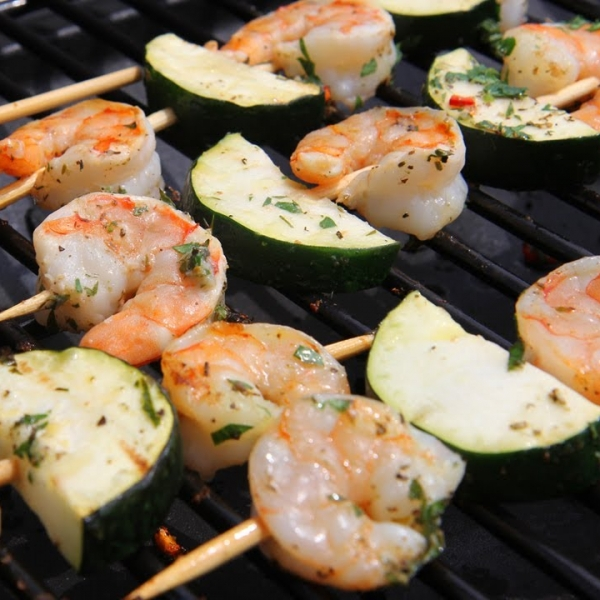 Shrimp and Zucchini Kabobs