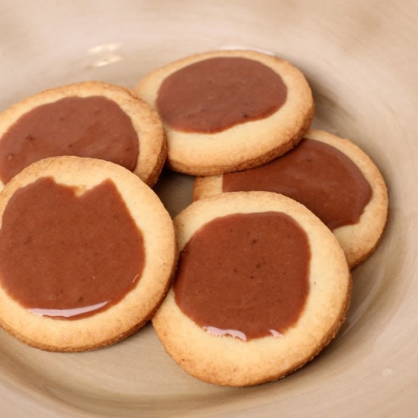 Butter Cookies with Chocolate Glaze