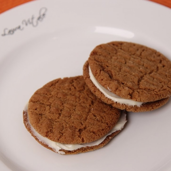 Cream Filled Ginger Cookies