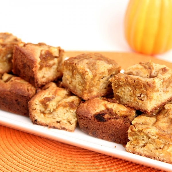 Pumpkin Swirl Blondies