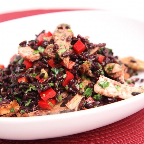 Turkey and Black Rice Salad