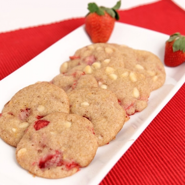 Strawberry White Chocolate Chip Cookies
