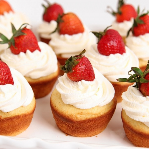 Strawberry Shortcake Cupcakes