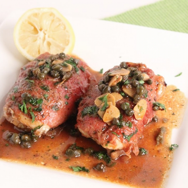 Prosciutto Roasted Chicken Piccata