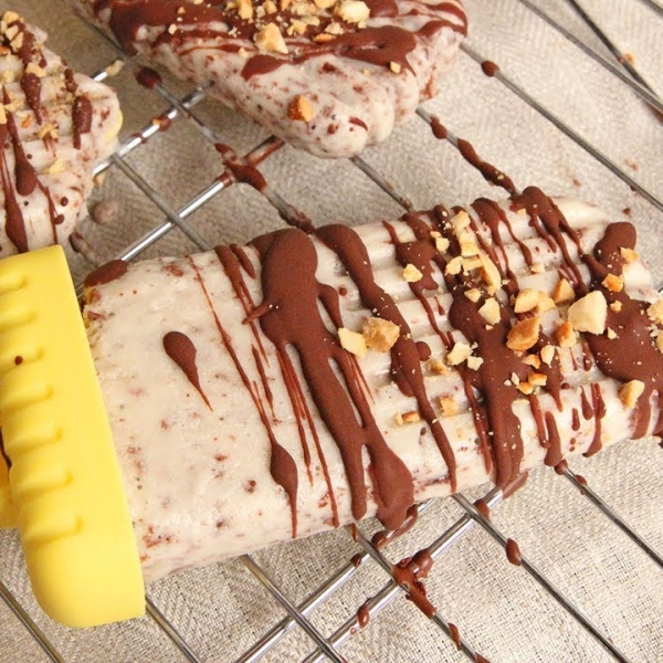 Banana Split Popsicles