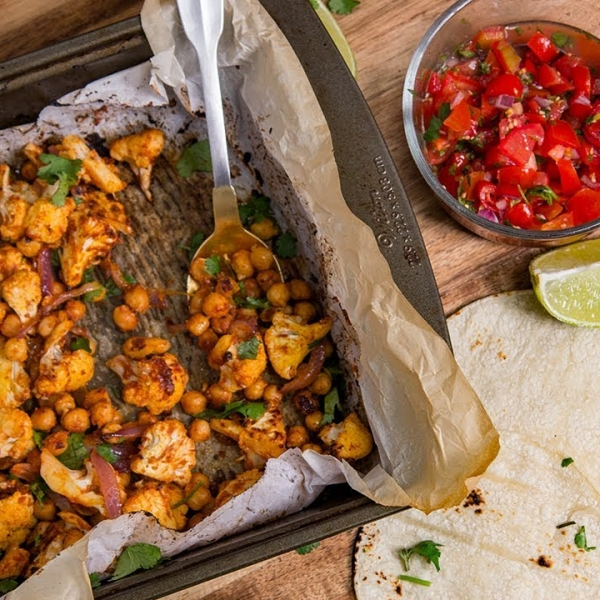 Cauliflower Chickpea Tacos