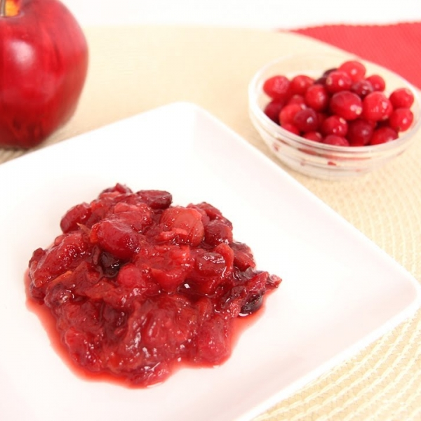Cherry Apple Cranberry Sauce