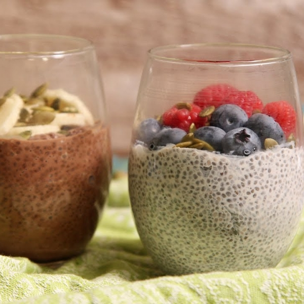Chia Seed Pudding Two Ways
