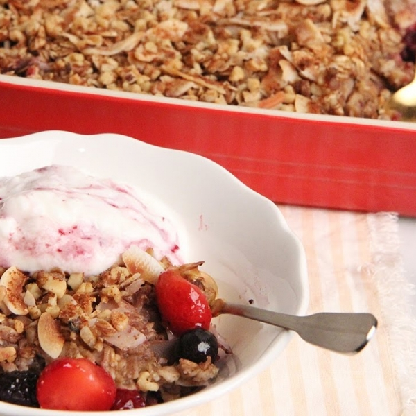 Coconut Berry Baked Oatmeal