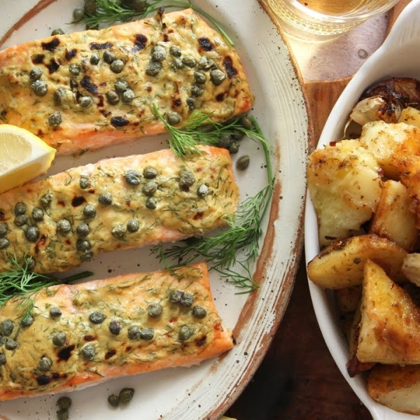 Dijon Roasted Salmon