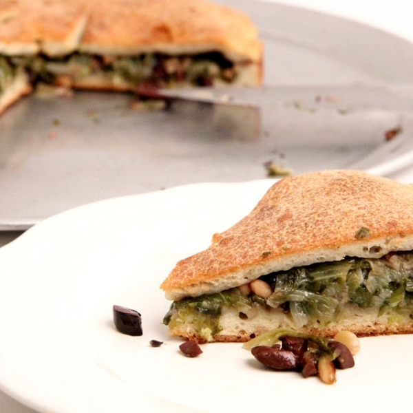Escarole Stuffed Pizza