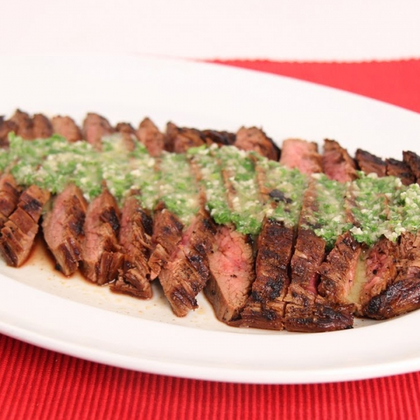 Grilled Flank Steak with Chimichurri