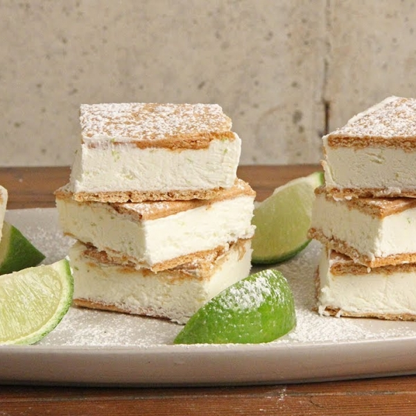 Key Lime Pie Ice Cream Bars