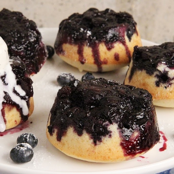 Mini Blueberry Upside Down Cakes