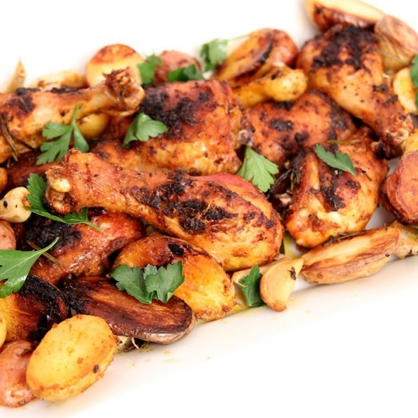 One Pan Roasted Chicken and Potatoes