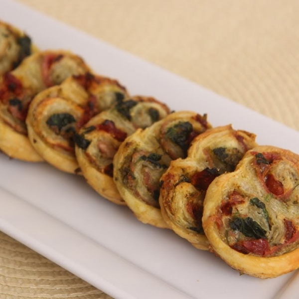 Palmieres with Sun Dried Tomatoes