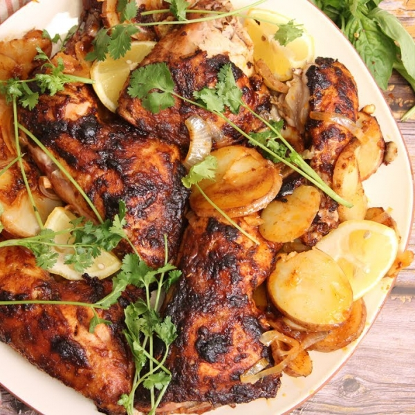 Portuguese Inspired Roasted Chicken