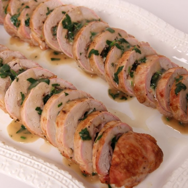 Prosciutto and Spinach Stuffed Pork Tenderloin