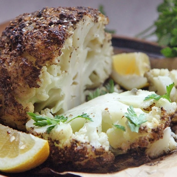 Roasted Cauliflower Head
