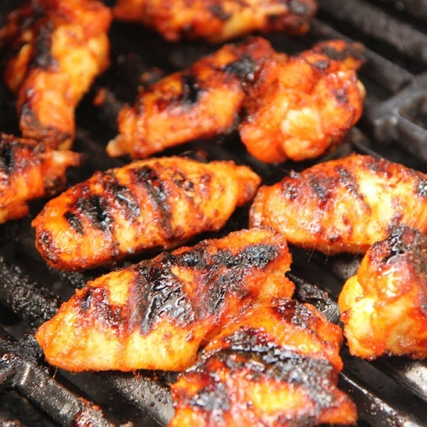 Sweet and Spicy Grilled Wings