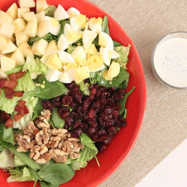 Winter Cobb Salad with Poppyseed Dressing